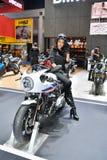 在曼谷国际泰国汽车展示会的BMW摩托车2017年 库存照片