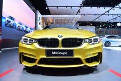 在曼谷国际泰国汽车展示会的BMW M4小轿车2017年 库存照片