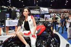 在曼谷国际泰国汽车展示会20的本田摩托车 库存照片