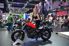 在曼谷国际泰国汽车展示会20的本田摩托车 库存图片