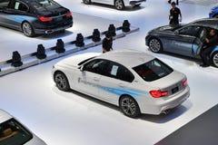 在曼谷国际泰国汽车展示会20的BMW 330e M体育 图库摄影