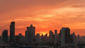 在曼谷市的天空 库存照片