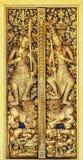 在曼谷玉佛寺的门 免版税库存图片