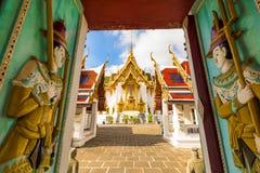 在曼谷玉佛寺的Dusit玛哈Prasat王位霍尔,曼谷, Thailan 库存照片