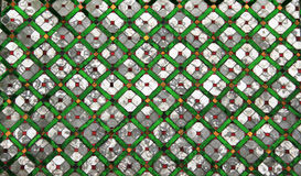 在曼谷玉佛寺,曼谷,泰国的镜子&绿宝石纹理 免版税库存图片