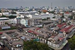 在曼谷的鸟瞰图 库存图片