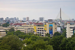在曼谷的鸟瞰图 图库摄影