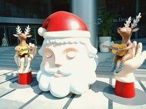 在曼谷购物中心的圣诞节 库存图片