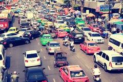 在曼谷,泰国的交通堵塞 免版税图库摄影