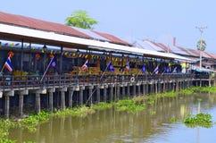 在曼谷,泰国附近的Khlong Suan百年市场 库存图片