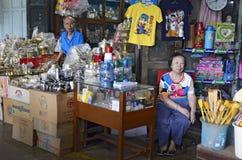 在曼谷,泰国附近的Khlong Suan百年市场 图库摄影
