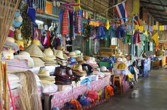 在曼谷,泰国附近的Khlong Suan百年市场 库存照片