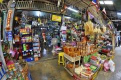 在曼谷,泰国附近的Khlong Suan百年市场 免版税库存照片