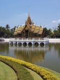 在曼谷-泰国附近的轰隆痛苦 库存照片