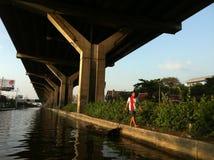 洪水在曼谷 库存照片