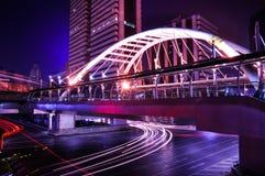 在曼谷skytrain的崇公Nonsi skywalk 库存图片