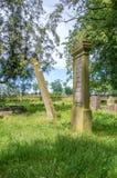 在最大的Mennonite公墓的老坟墓波兰的北部的 库存照片