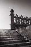 在最旧的清真寺的台阶在开罗,埃及 免版税库存图片