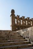 在最旧的清真寺的台阶在开罗,埃及 图库摄影