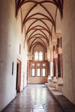 在最极大的哥特式城堡的房间在欧洲- Malbork 免版税图库摄影
