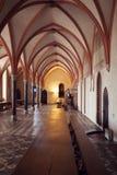 在最极大的哥特式城堡的房间在欧洲- Malbork 免版税库存照片