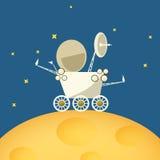 在月亮的行星流浪者,传染媒介例证 免版税库存图片