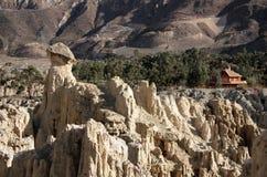 在月亮谷,拉巴斯,玻利维亚的月球风景 图库摄影