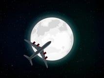 在月亮 免版税库存图片