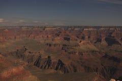 在月光的大峡谷 免版税库存照片