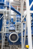 在有机处理存贮甲烷的油里面的废植物 免版税图库摄影