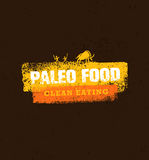 在有机背景的Paleo食物干净的吃传染媒介概念 向量例证