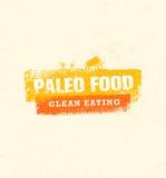 在有机背景的Paleo食物干净的吃传染媒介概念 库存例证