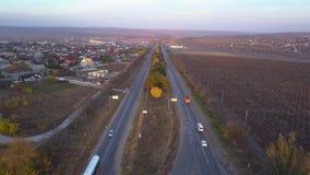在有汽车的郊区相等的高速公路 影视素材