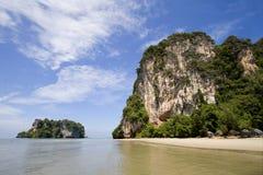 在有的姚, Trang,泰国的天堂海滩 图库摄影