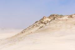 在有雾的天气的沙丘。 Leba,波兰。 免版税库存图片