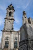 在朗格勒,法国大广场的雕塑  免版税图库摄影