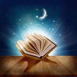 在木书摊的古兰经 免版税库存照片