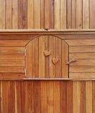在木内阁的木门 图库摄影