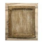 在木制框架的被包裹的空白的后面看法帆布 图库摄影