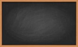 在木制框架的黑板 免版税库存照片