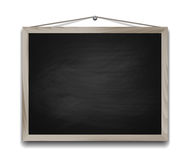 在木制框架的黑黑板 免版税库存照片