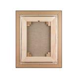 画廊在木制框架建筑- stre包裹了空白的帆布 免版税图库摄影