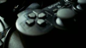 在木地板上的索尼PlayStation 股票视频