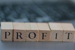 在木块写的例证财政期限 库存照片