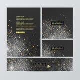 在木基体设置的圣诞节横幅 传染媒介EPS 10 免版税库存图片