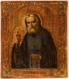在木头绘的俄国图标 库存图片