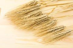 在木委员会的大麦 免版税库存照片