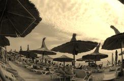 在木星海滩的夏天2014年-康斯坦察,罗马尼亚 库存照片