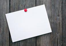在木板的明信片 免版税库存照片