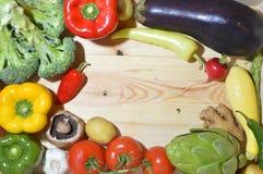在木板的素食者 免版税库存图片
